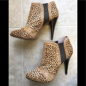 Gorgeous BCBGENERATION cowhide ankle booties!
